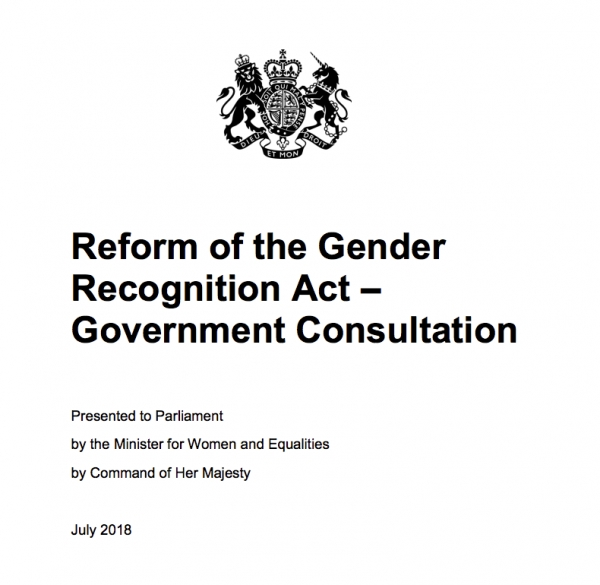 Reform of the Gender Recognition Act – Government Consultation